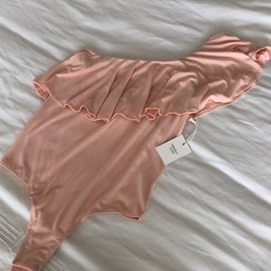 🆕 Blush Pink One Shoulder Bodysuit